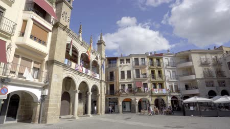 városháza : Plasencia, Spain - April 2019: Main Square and Town Hall of Plasencia, Caceres province, Extremadura, Spain