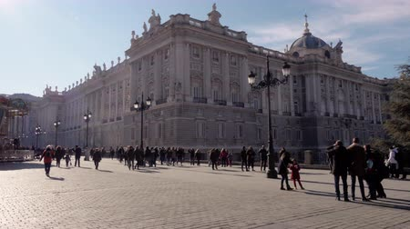 real madrid : The Palacio Real de Madrid is the official residence of the King of Spain in the city of Madrid. Stock Footage