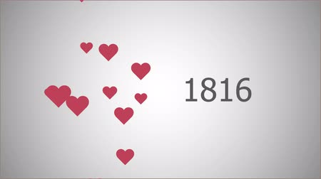 4K video of Counting 10 000 likes with hearts in flat style. Animation for social network and other.