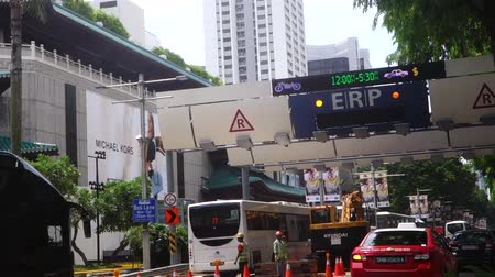 singapur : Elektronische Road Pricing ERP auf Singapore Straße Videos