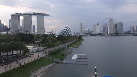 singapur : Singapur-Skyline. Singapur Business-Distrikt. Videos