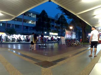 Time lapse of Clementi town in Singapore