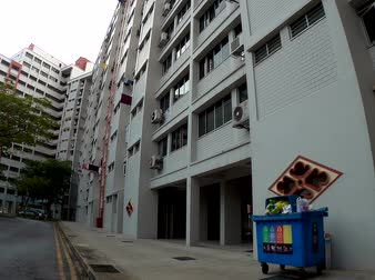 View of Singapore residential building also known as HDB. 80 percent of Singaporean stay in HDB.