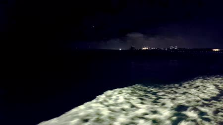 isztambul : Seascape view from ferry at dark night