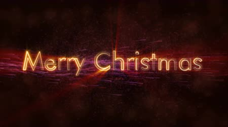 caligráfico : Merry Christmas text animation over white background