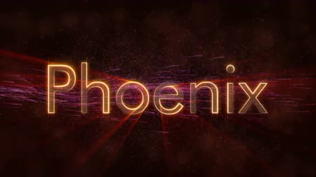 country name : Phoenix - United States of America text - Shiny rays