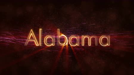 alabama : Alabama - State of the art text animation - Shiny rays Stock Footage
