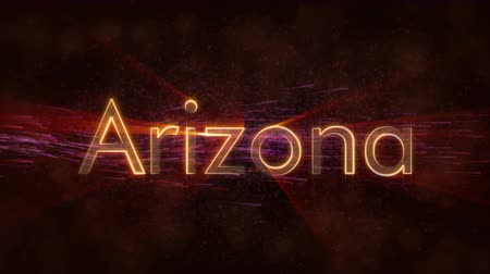 woorden : Arizona - State of the art tekstanimatie - Glanzende stralen