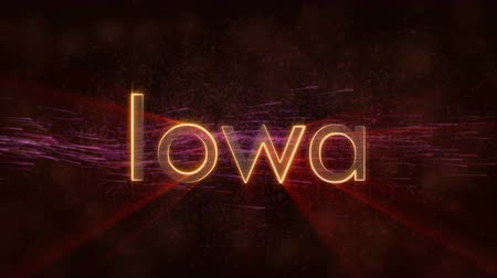 iowa : Iowa - State of the art text animation - Shiny rays