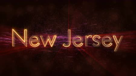 new jersey : New Jersey - State of the art text animation - Shiny rays
