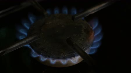 gas burner flame : Gas burner flame. Close up