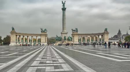 Budapest Heroes Square or Heshek Tere - One of the Largest Areas of Budapest, Connected With Many Historical and Political Contexts.