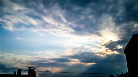 Ankara on blue sky floating clouds. The suns rays make their way through the gray clouds. Dostupné videozáznamy