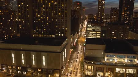 View of Night City From a Height, Nice View of Night Chicago Dostupné videozáznamy