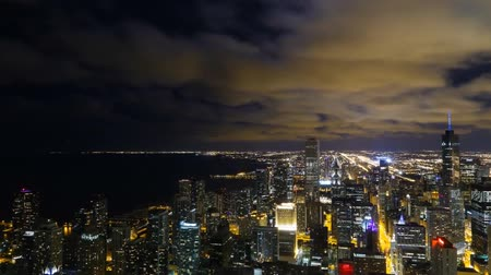 Night view of chicago from height