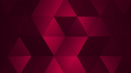 poligoni : Loopable Abstract Pink Red Low Poly superficie 3D come sfondo CG. Soft Polygonal Geometric Low Poly di spostamento di poligoni Red Orange. Il fondo senza cuciture del ciclo di 4K Fullhd rende V1 Filmati Stock