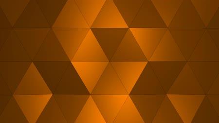 trójkąt : Loopable Abstract Yellow Low Poly 3D surface as CG background. Soft Polygonal Geometric Low Poly background of shifting Red Orange polygons. 4K Fullhd seamless loop background render V2