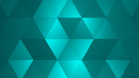 trójkąt : Loopable Abstract Light-Blue Low Poly 3D surface as CG background. Soft Polygonal Geometric Low Poly background of shifting Red Orange polygons. 4K Fullhd seamless loop background render V2