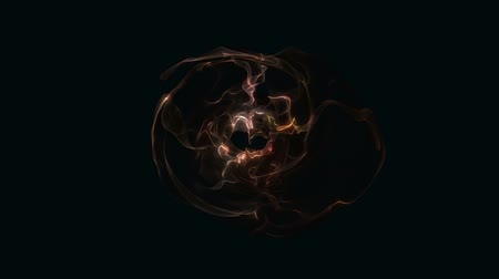 Abstract Energy Effect for your presentation. Background with cooper dark energy or fire. CG animation, 3D render, motion design V1