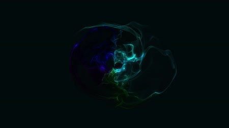 gravitational : Abstract Energy Effect for your presentation. Background with deep ocean dark energy or fire. CG animation, 3D render, motion design V1 Stock Footage
