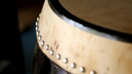 taiko drums : taiko drum head detail shift focus