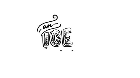 An Ice cream animated hand lettering questioning phrase with sketch of cornet. Calligraphic text on black background, motion graphic video with alpha channel. Stock mozgókép