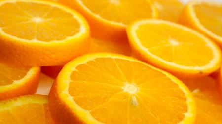 healthyfood : Fresh citrus fruits. Rotate Video footage of the concept of a healthy food and diet. Spinning sliced ??oranges