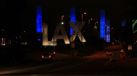 közepes : LAX Entrance At Night