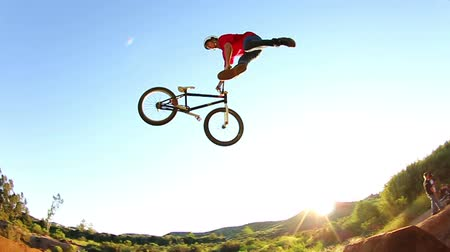 bicycle : Extreme BMX Bike Tailwhip (Slow Motion) Stock Footage