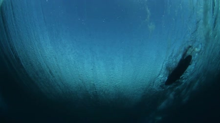 серфер : Underwater Ocean Wave Slow Motion Wither Surfer
