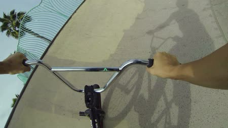 bicycle : POV Extreme BMX Bike Tricks In Skatepark