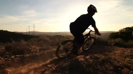 bicycle : Man Mountain Bike Riding  Stock Footage