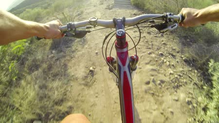 kaland : POV Extreme Mountain Biking  Stock mozgókép