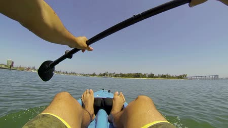 kayak : POV Kayaking  Stock Footage