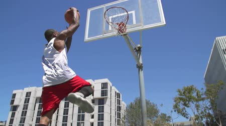 Slow Motion Basketball Player Dunking In Slow Motion
