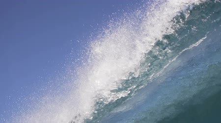 olas : Vaciar Ocean Blue Wave Crashing In Slow Motion