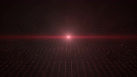 сценарий : Retro 3D Red Moving Points Parallax Loop with a bright light