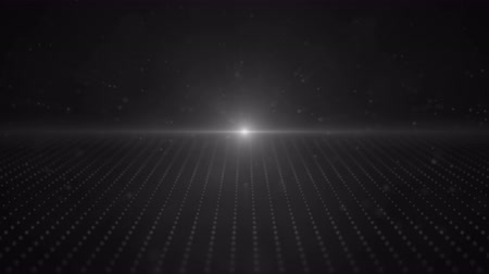 сценарий : Retro 3d Gray Moving Points Parallax Loop with a bright light