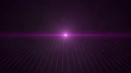 сценарий : Retro 3d Purple Moving Points Parallax Loop with a bright light