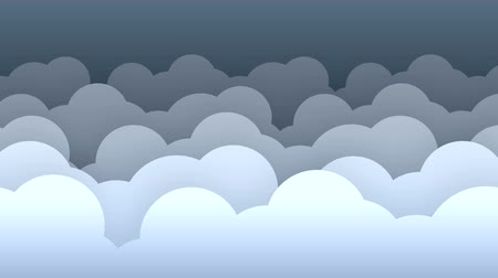 2d clouds flat style parallax background loop v2