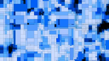uznání : Blue scanning squares animated background loop