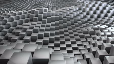 nepravidelný : Evolving 3d dynamic surface made of gray metal blocks Dostupné videozáznamy