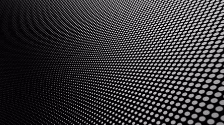 Scaling white dots grid curved background loop