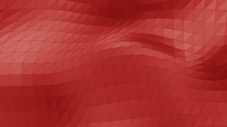Modern corporate style red triangle wave surface background