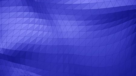 Modern corporate style blue triangle wave surface background loop