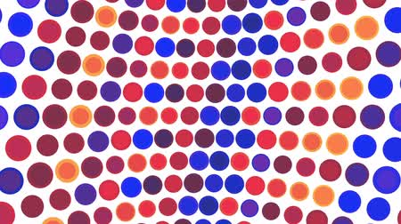 polca : Colorful dots on a white background loop