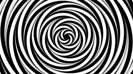 hallucination : Optical monochrome rotating spiers background loop