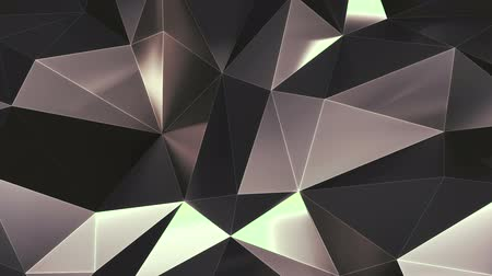 Abstract low poly metal mirror surface loop 2 Dostupné videozáznamy