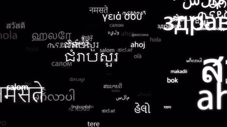 Hello in all world languages tag cloud