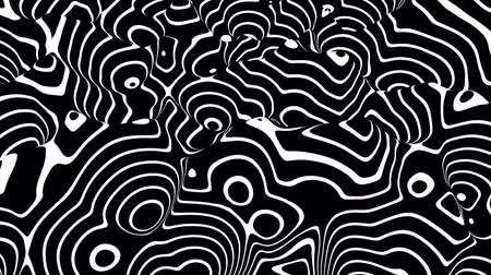 sentetik : Black and white circle curved lines background Stok Video